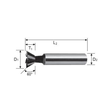HSS Cobalt Dovetail Cutter (60°)