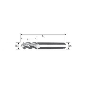 Carbide End Mill 3 Flute
