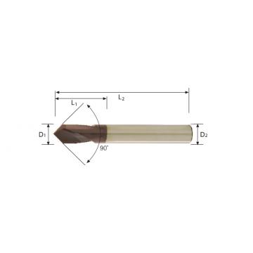 Carbide NC Spotting Drill (90°)