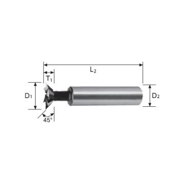 HSS Cobalt Dovetail Cutter (45°)